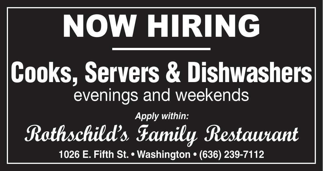 Cooks, Servers & Dishwashers