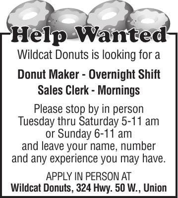Donut Maker & Sales Clerk