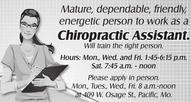 Chiropractic Assistant