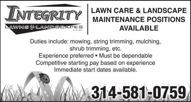 Lawn Care & Landscape Maintenance Positions