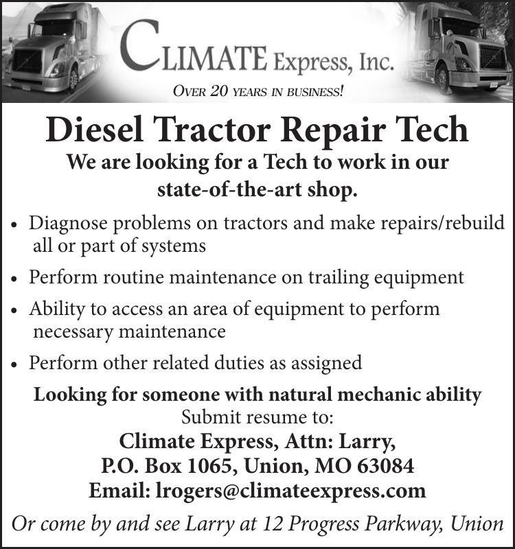 Diesel Tractor Repair Tech