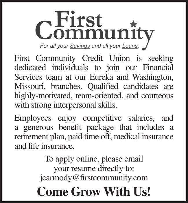 First Community Credit Union is seeking