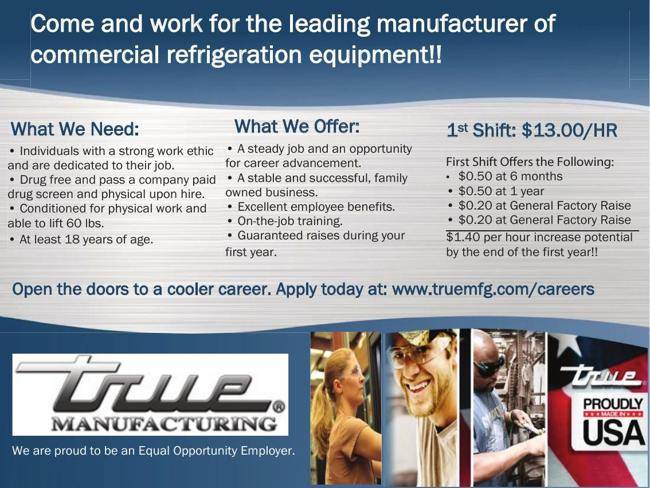 Manufacturing Position