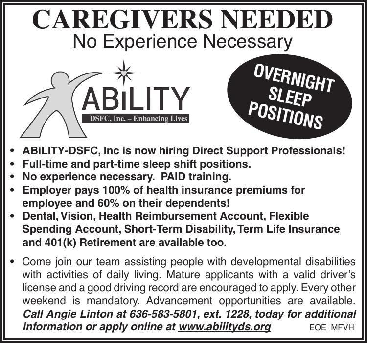 Overnight Caregivers Needed