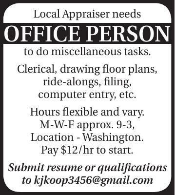 Local Appraiser needs