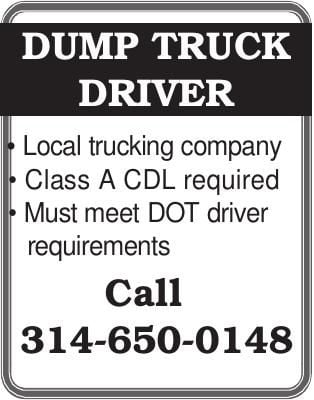 DUMP TRUCK DRIVER