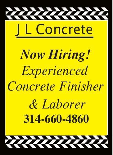 J L Concrete Now Hiring