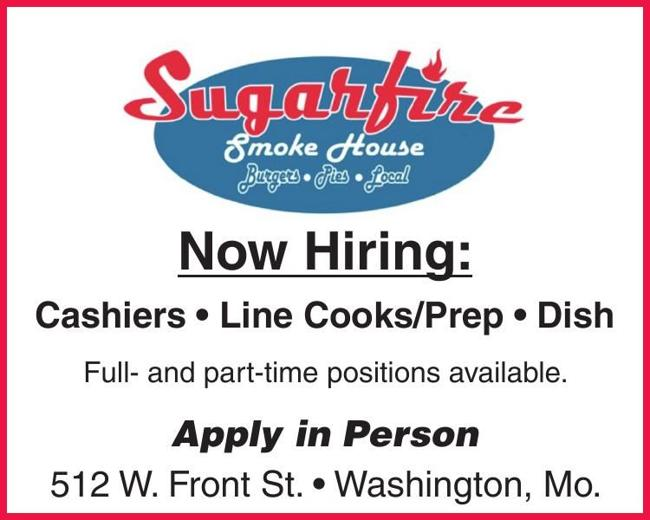 Cashiers * Line Cooks * Dishwashers