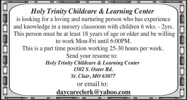 Day Care Position Available