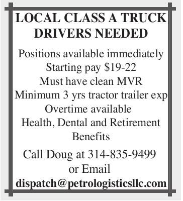 Class A Truck Drivers Needed