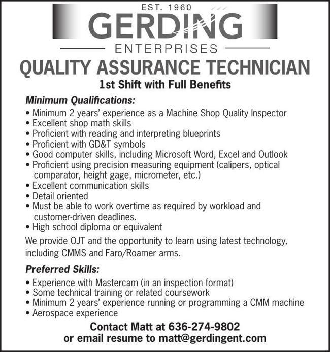 Quality Assurance Technician
