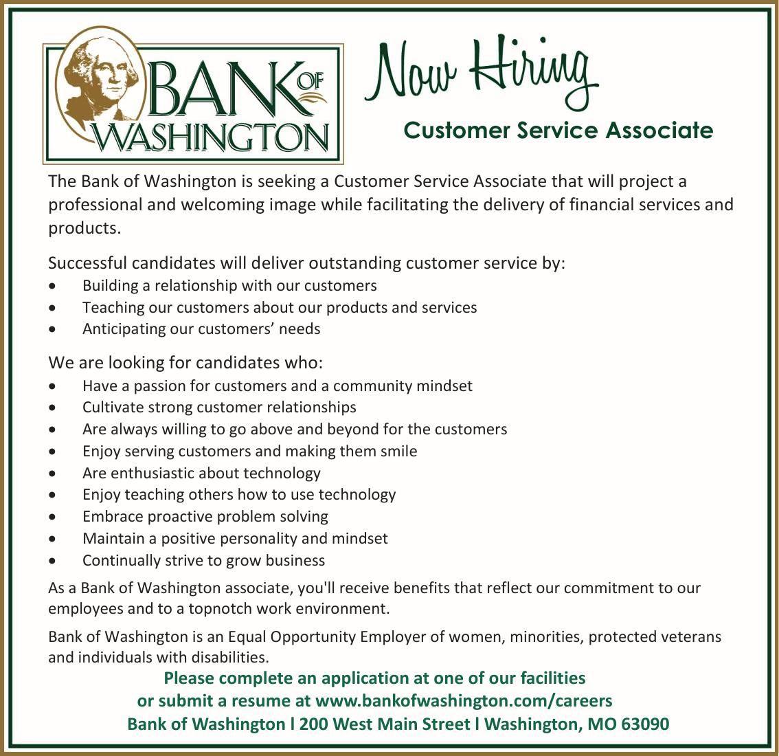 Customer Service Associate