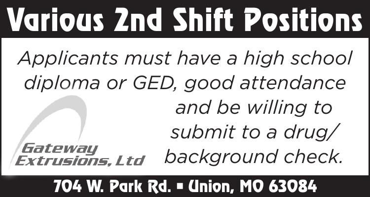 Various 2nd Shift Positions
