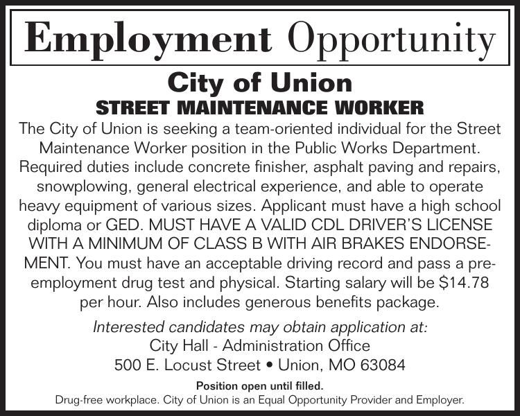 Street Maintenance Worker