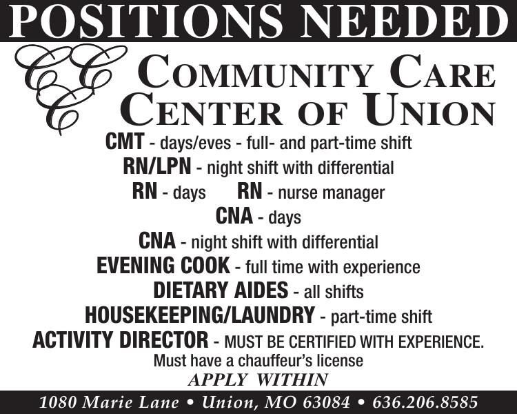 Positions Needed