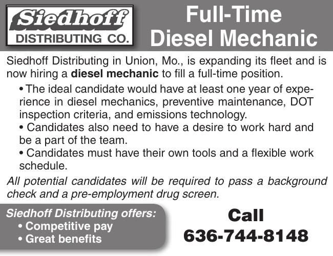 Full-Time Diesel Mechanic