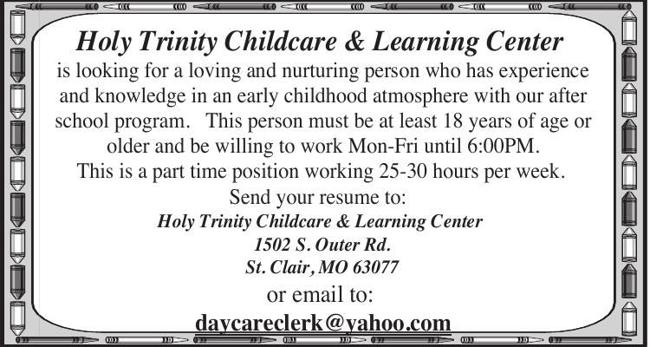 Childcare Position Available