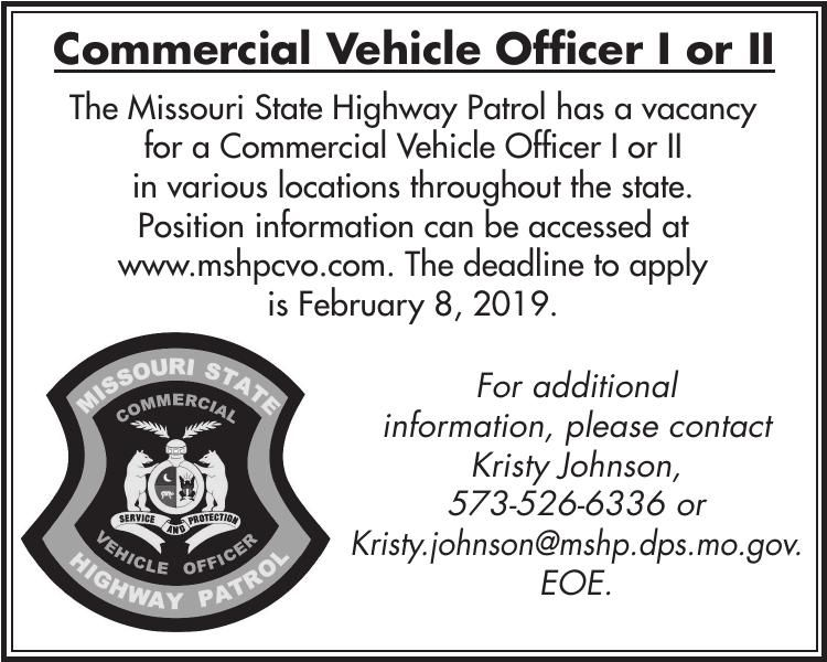 Commercial Vehicle Officer I or II