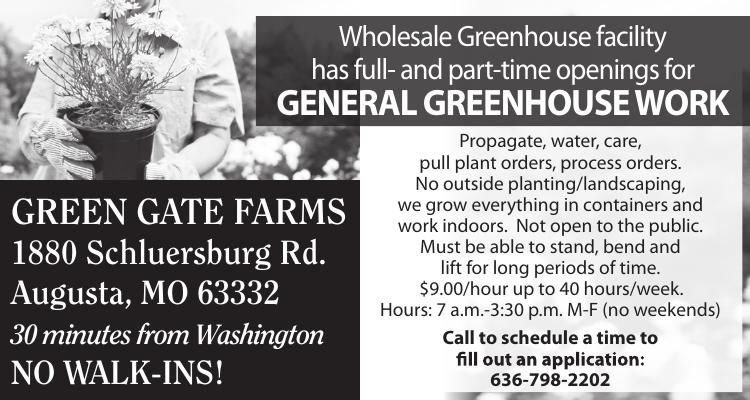 GENERAL GREENHOUSE WORK
