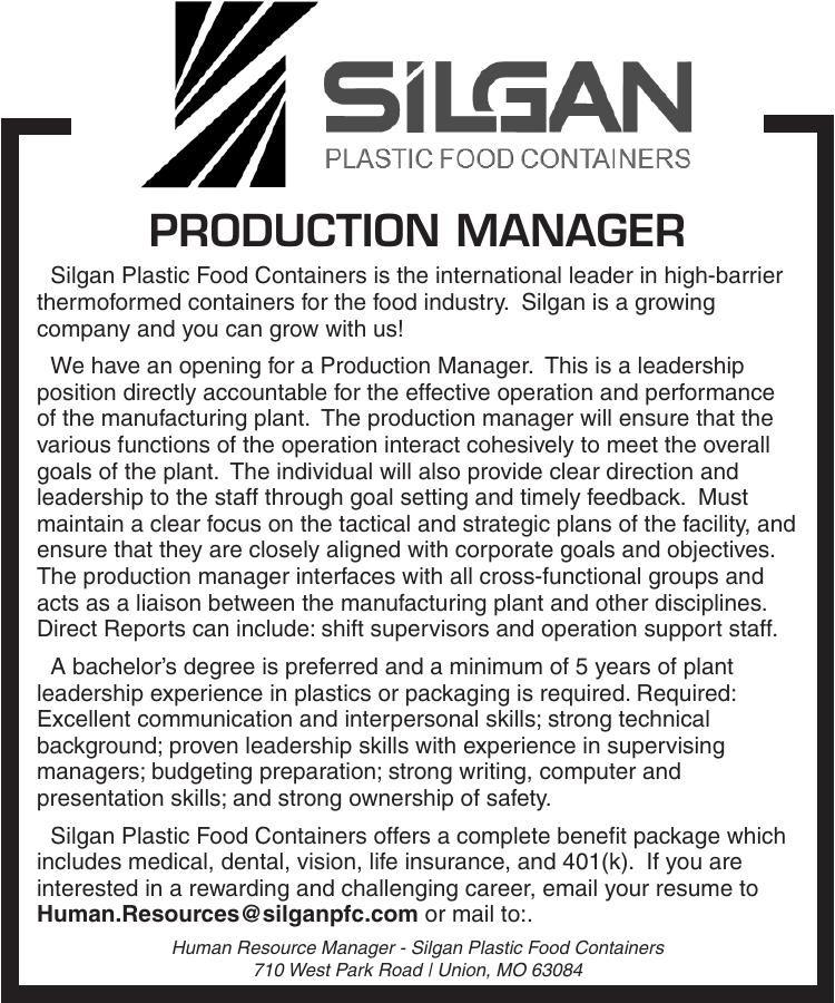 Production Mananger