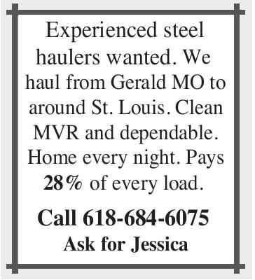 Experienced Steel Haulers Wanted