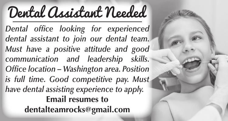 Dental Assistant Needed