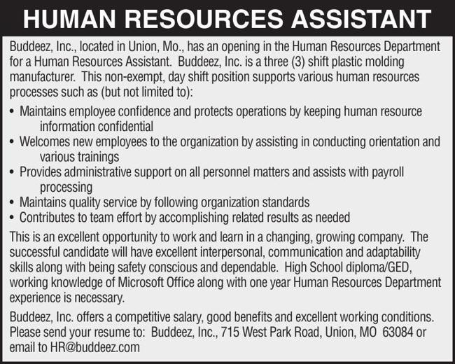 Human Resources Assistant