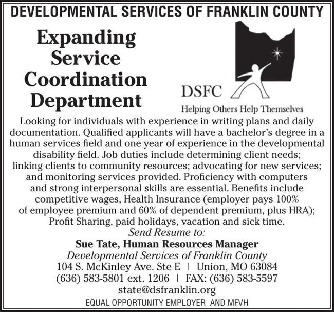DEVELOPMENTAL SERVICES OF FRANKLIN COUNTY