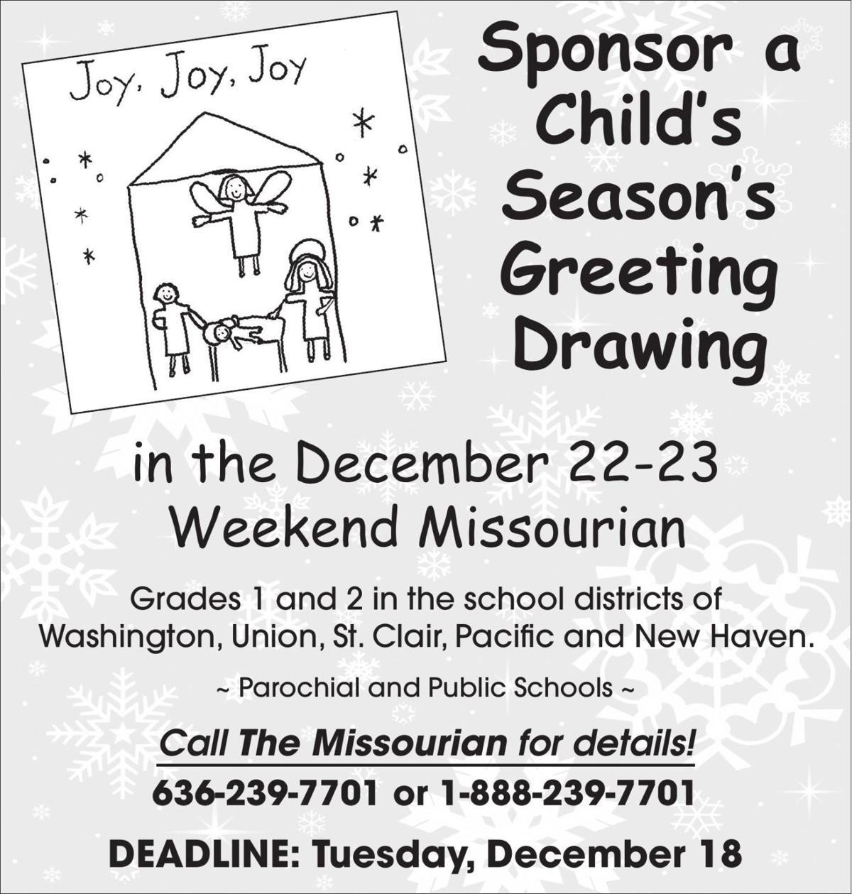 Sponsor a Child's Season's Greeting Drawing