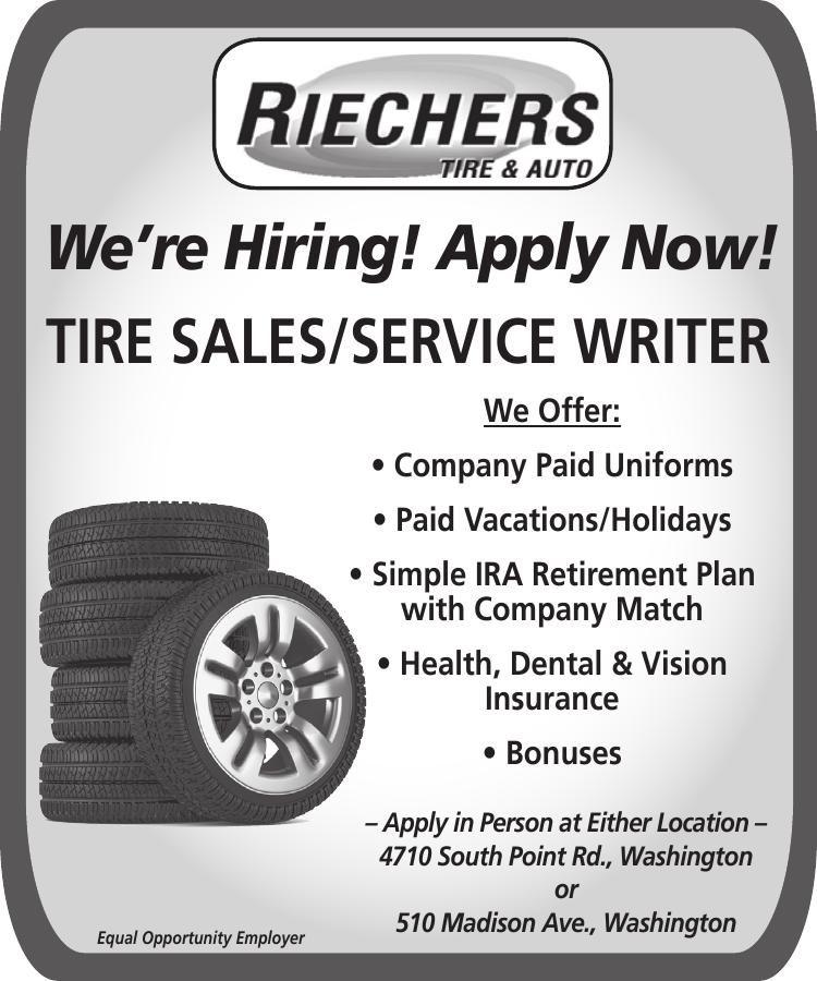 Tire Sales / Service Writer