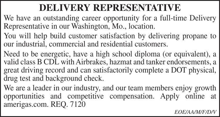 Delivery Representative