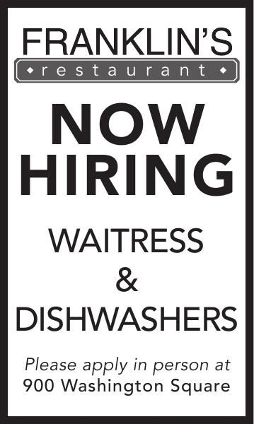 Waitress & Dishwashers
