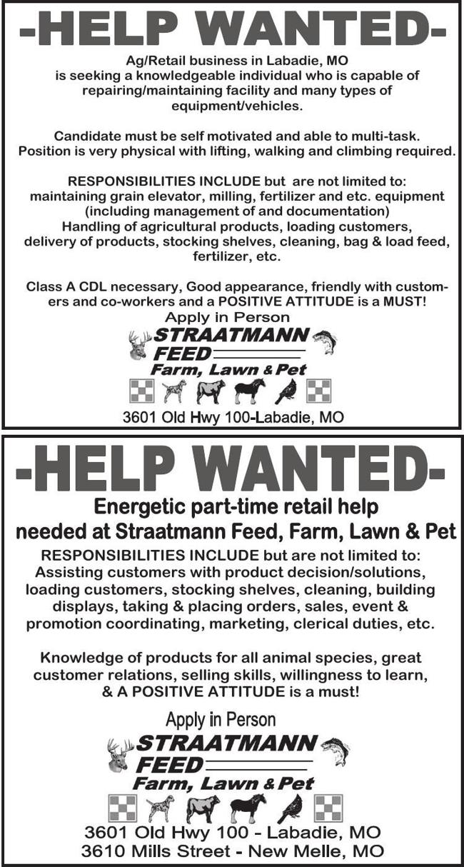 Maintenance & Retail Positions Available
