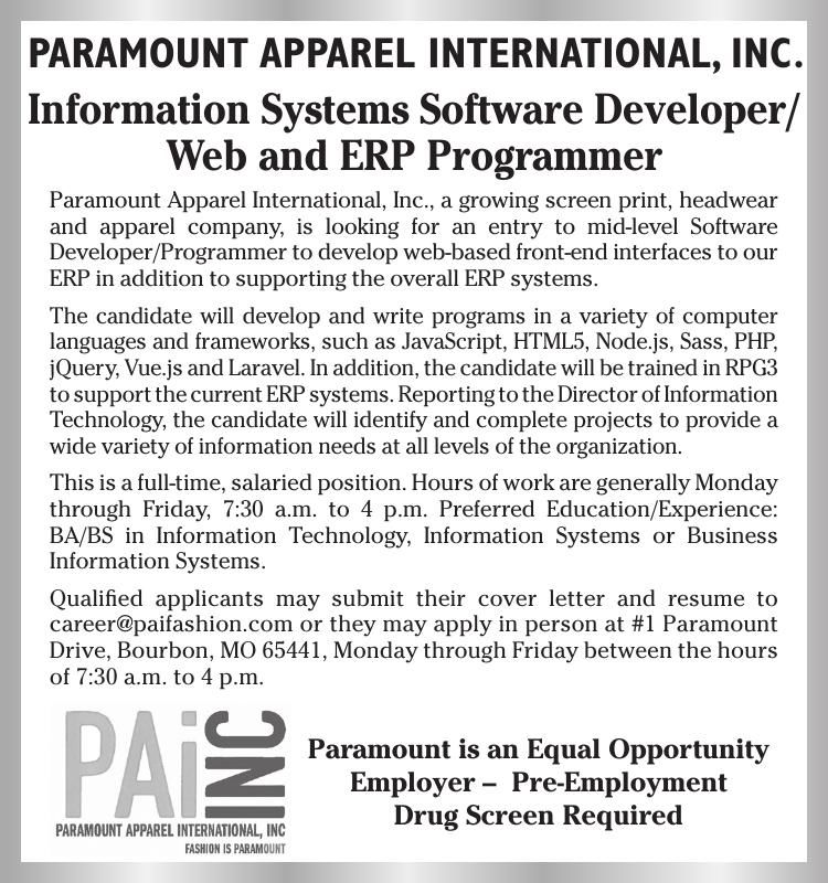 Web and ERP Programmer