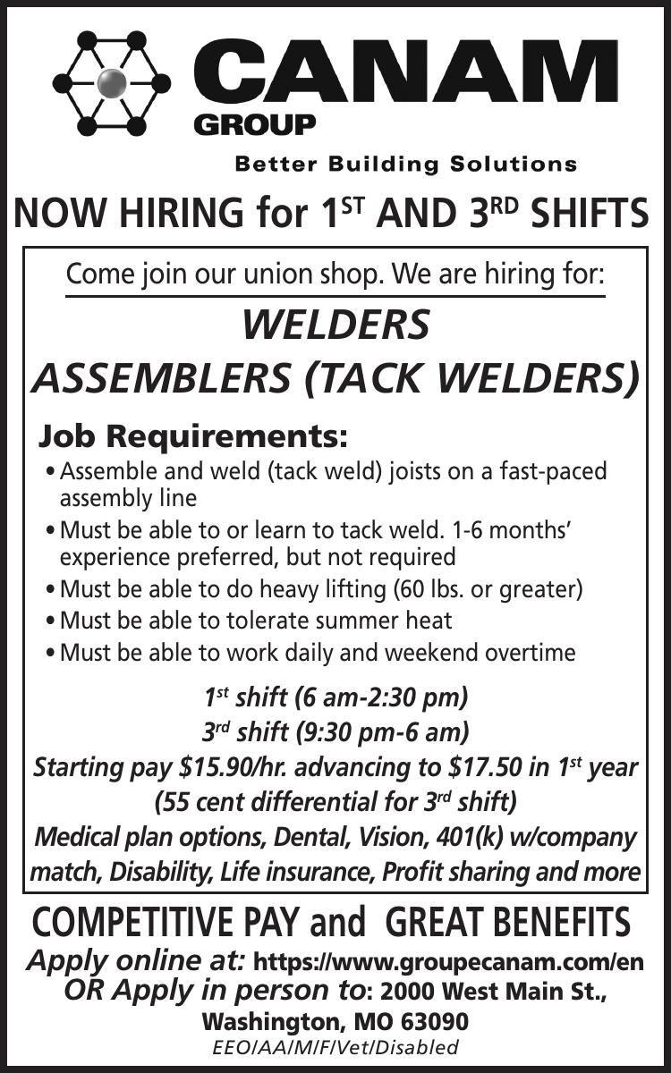 Welders/ Assemblers