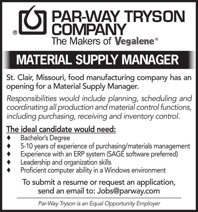 Material Supply Manager