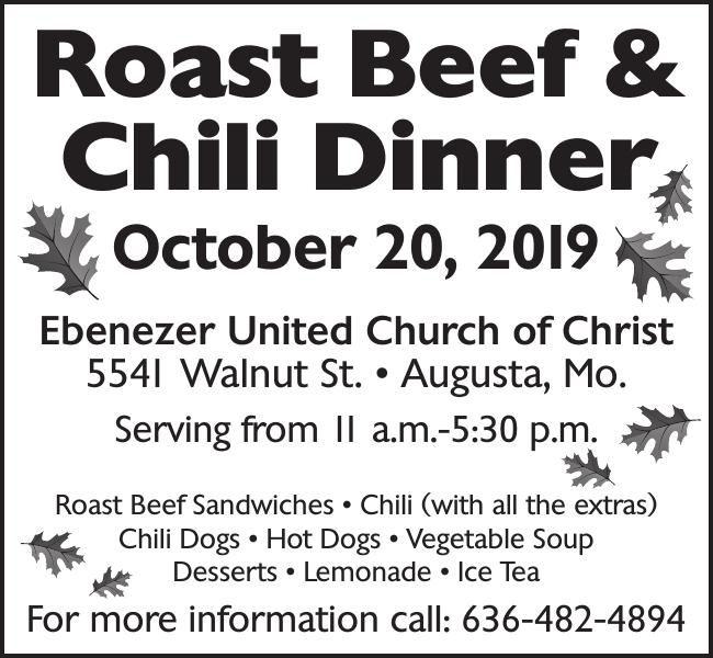 Roast Beef & Chili Dinner