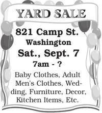 Sale | Garage & Yard Sales | emissourian com