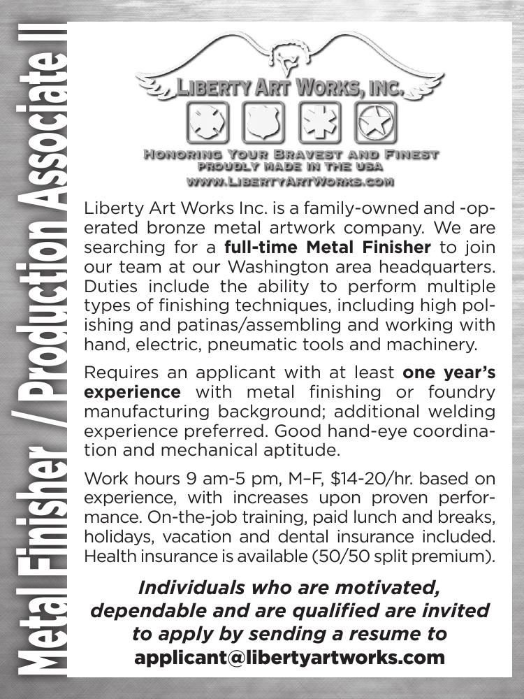 Metal Finisher / Production Associate II