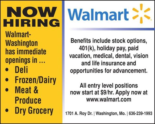 Washington Walmart - Now Hiring!