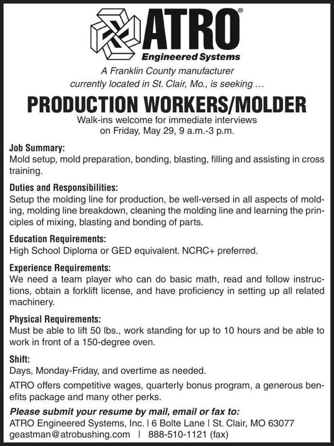 Production Workers / Molder