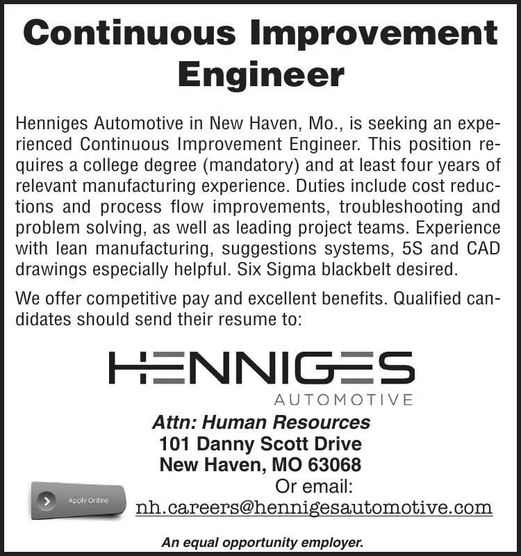 Continuous Improvement Engineer