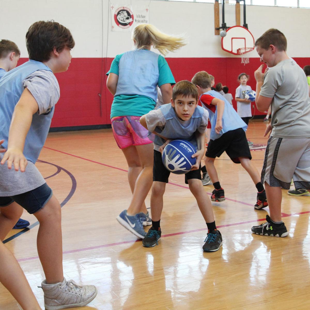 UpWard Basketball Camp at Immanuel Lutheran 2017