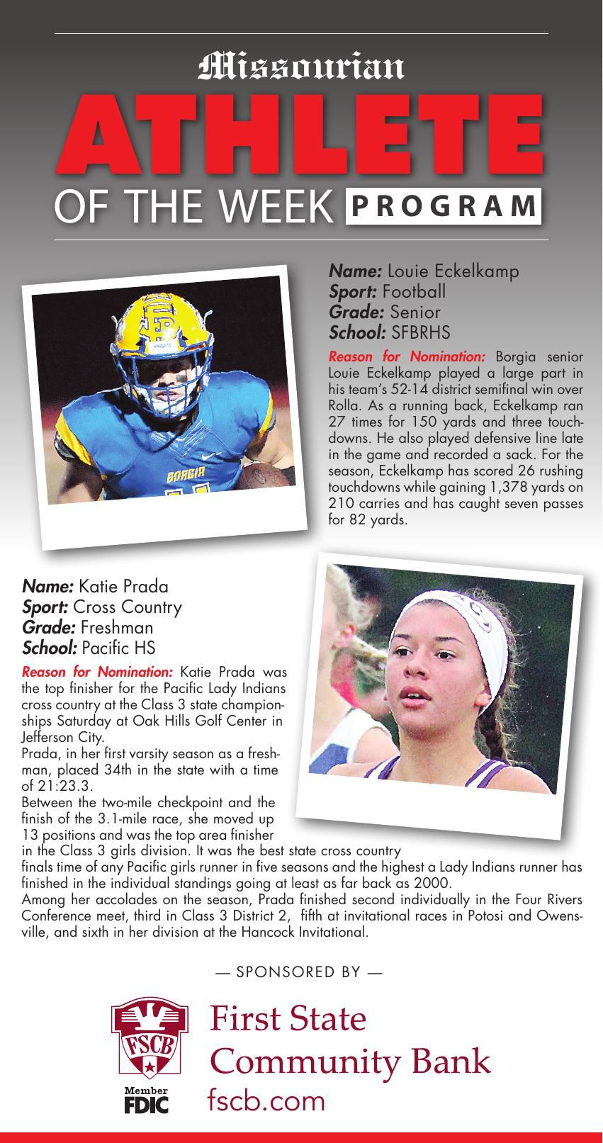 2018-2019 Athlete of the Week 11