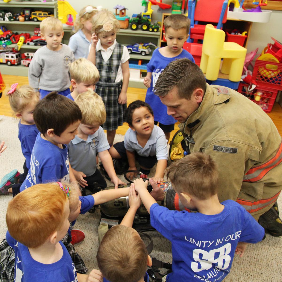 Fire Department Vsits SFB Preschool 2017