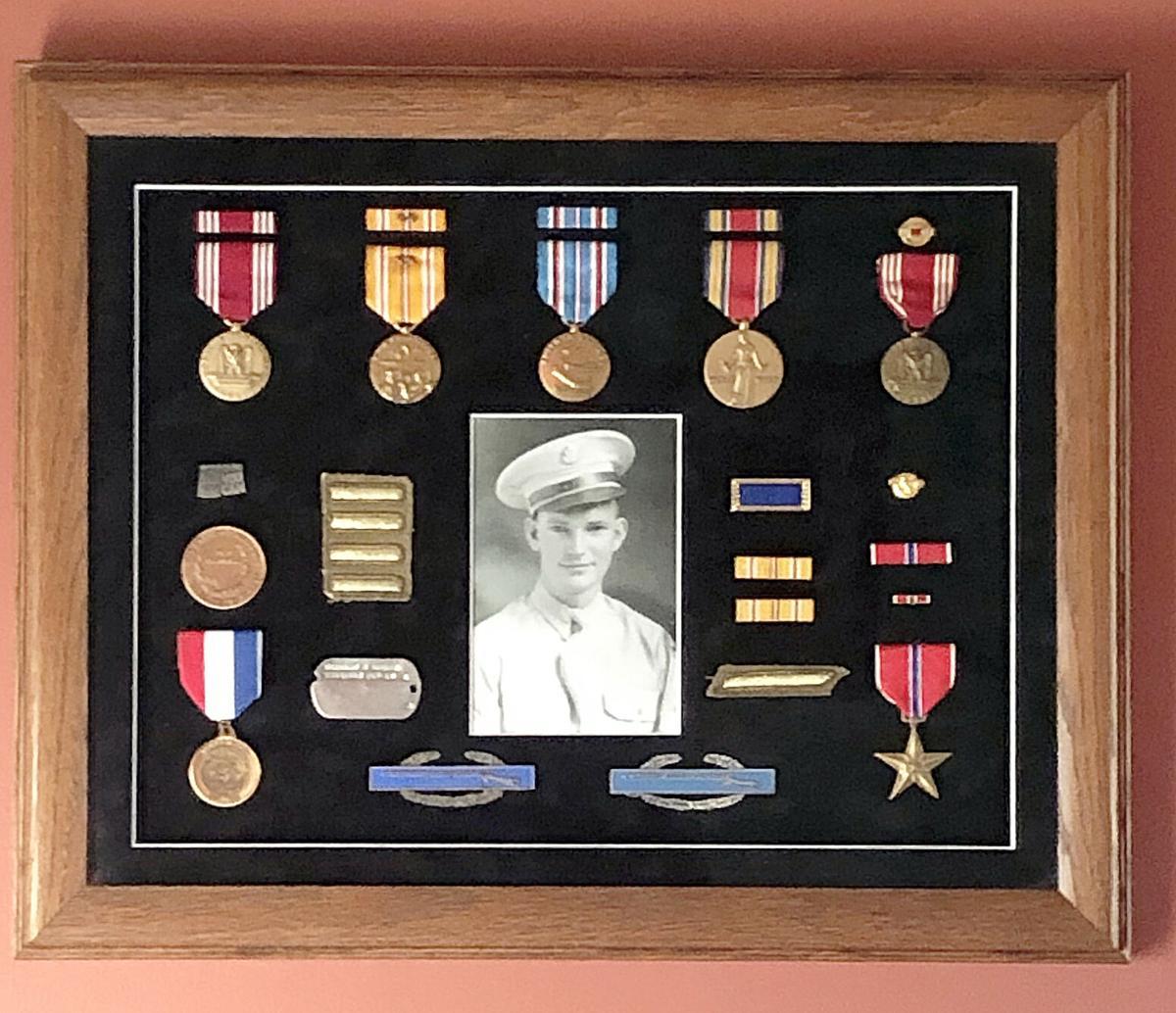 Shadow Box of Medals Belonging to Bernard Bieker.jpg