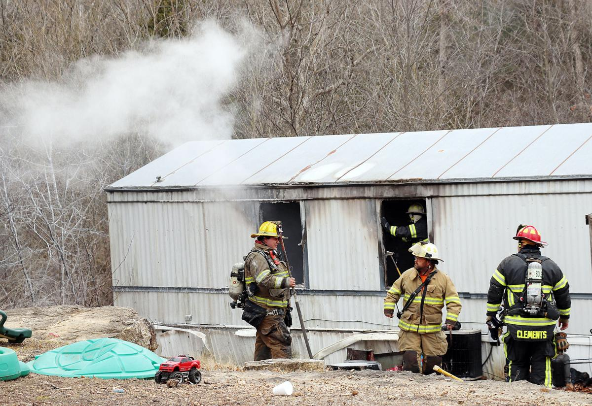 Mobile Home Catches Fire