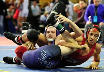 Union Junior Kuenzel Captures Third Place at State Wrestling