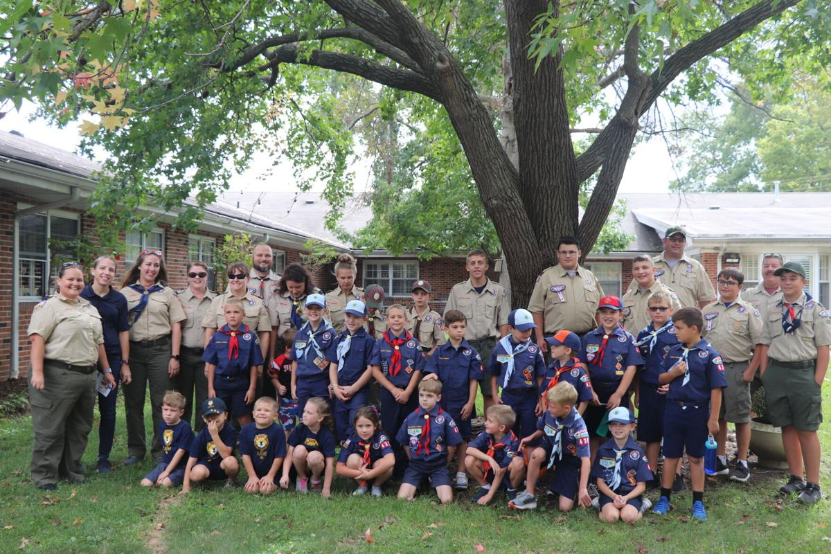 Members of Pack and Troop 439 at Cedarcrest Manor