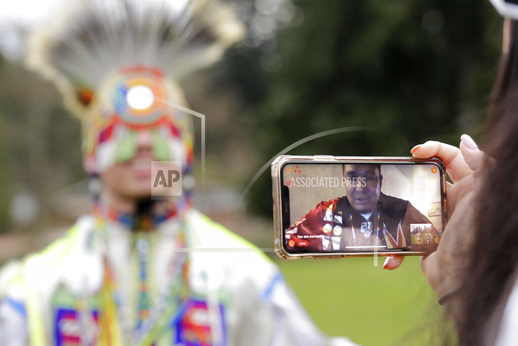 Virus Outbreak Powwow Social Distance